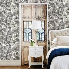 a street 56 4 sq ft alfresco black palm leaf wallpaper 2744
