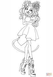 monster high catrine demew gloom and bloom coloring page free