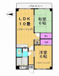 2ldk apartment to rent in adachi ku floorplan n i h o n