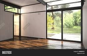 3d rendering of architectural background of a modern empty room