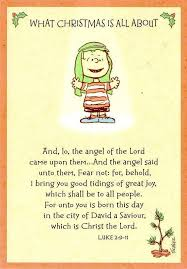 linus shares the true meaning of luke 2 9 11 home
