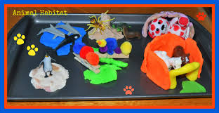 animal habitats kids play box