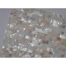of pearl subway tile kitchen backsplash seamless shell