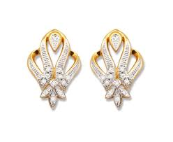 real diamond earrings stunning real diamond gold earrings indian jewellery 耳环
