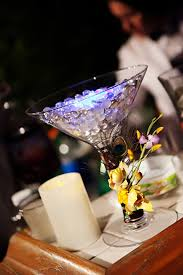 martini glass centerpieces table centerpiece decoration exquisite martini glass