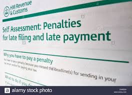 penalty notice from hm revenue and customs for late of