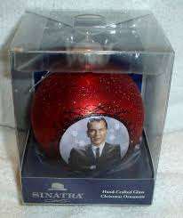 frank sinatra large glass ornament mib classic