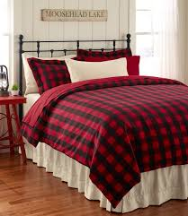 western red buffalo plaid quilt set
