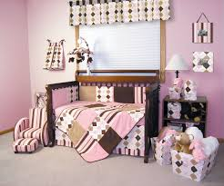 Pink Brown Crib Bedding Classic Pink And Brown Crib Bedding Nursery Ptimage Color Of Wall