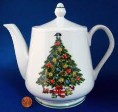 teapot christmas tree large porcelain tea pot holiday tea party