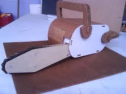 chainsaw halloween cardboard chainsaw 4 steps with pictures