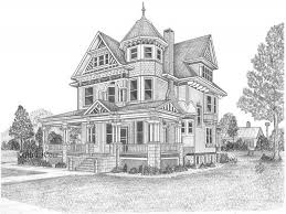 Modern House Drawing by Pencil Sketches Of Houses Drawing Sketch Library
