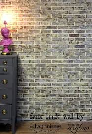 diy faux brick walls look hometalk