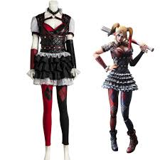 Halloween Costume Harley Quinn Aliexpress Buy Batman Arkham Asylum Harley Quinn Halloween