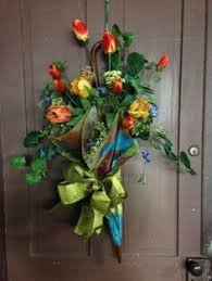 Easter Decorations Front Door by Front Door Decor Decorated Umbrella Spring Umbrella Tulips