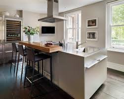 kitchen breakfast bar design ideas kitchens white modern kitchen with wood breakfast bar table and