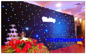 wedding backdrop blue 3m by 3m white and blue sky style starlight backdrop wedding