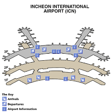 incheon international airport airport maps maps and directions