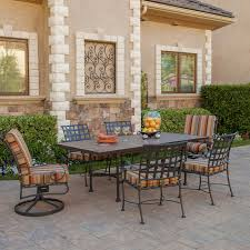 ow lee classico 7 piece wrought iron patio dining set furniture