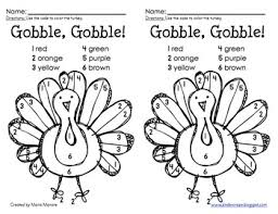 color by number thanksgiving turkey by gavin tpt