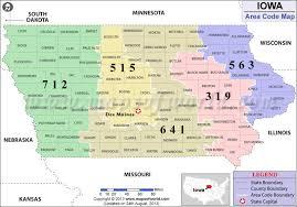 road map of iowa usa iowa area codes map of iowa area codes