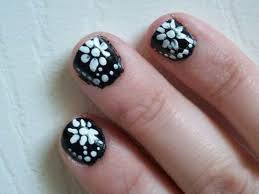 25 simple floral nail art designs stylepics