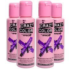 crazy color 4 pack purple semi permanent hair dye 100ml