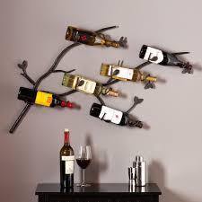 rustic wood wall mount wine rack efficiency by using wall mount