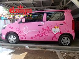 karimun wagon kitty branding mobil striping decal