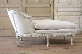 chaise master 19th century louis xv style painted linen upholstered chaise