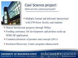 cool science project what initiated the partnership referral
