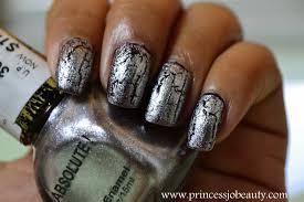 superprincessjo a crackle nail nicka nail polish absolute silver
