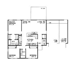 adobe southwestern style house plan 3 beds 2 baths 1200 sq ft