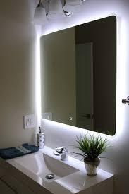 vanity mirror with led lights backlit bathroom vanity mirror with light in of and back lighted