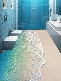 3d flooring wave pattern 3d floor stickers in 5pcs 17 59 inch