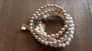 easy pearl bracelet images Quick and easy multi strand pearl bracelet how to make a pearl jpg