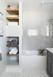 shelves in bathrooms ideas built in bathroom shelves bathroom contemporary with marble floor