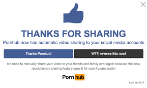 pornhub scares everyone to with its terrifying april fools