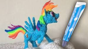 3doodler create 3d pen with 3d pen art rainbow dash my little pony mlp youtube