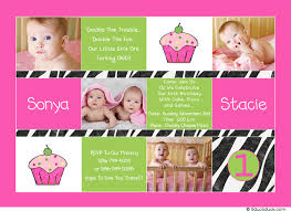 photo twin cupcakes invitation party pink u0026 green