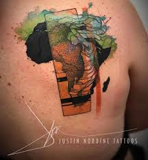 africa on shoulder blade best ideas gallery