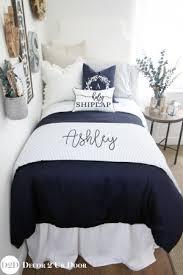 Blue And White Comforter Blue Dorm Room Bedding