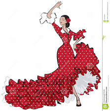 spanish clipart flamenco dancing pencil and in color spanish