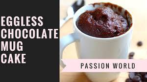 eggless chocolate mug cake microwave mug cake recipe youtube