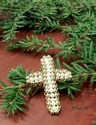 how to make a beaded wire cross for christmas craft tutorial a