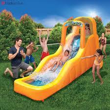 banzai wave splash water slide inflatable backyard summer aqua