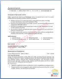 Bookkeeper Resume Samples Sample Bookkeeper Resume