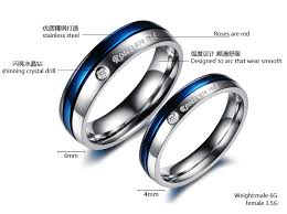 men rings platinum images Wholesale blue engagement rings for men and women his and hers jpg