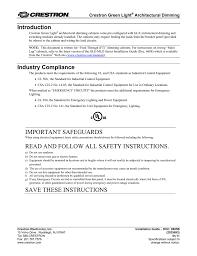 unit equipment emergency lighting manual crestron