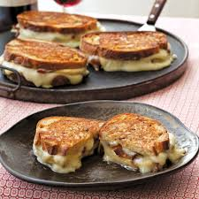 taleggio grilled cheese with bacon and honey crisp apples recipe